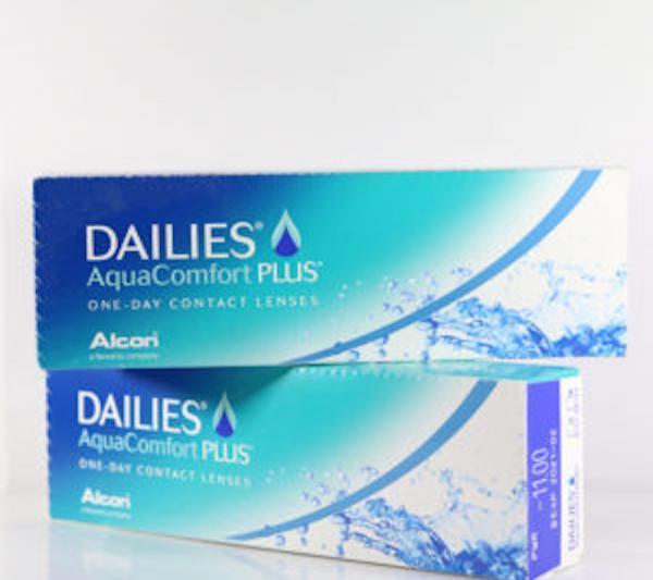 2 confezioni di Lenti a contatto Dailies Aqua Comfort Plus Alcon